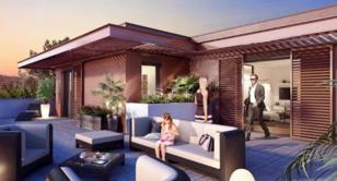 Certains logements bénéficient de belles terrasses de plus de 80 m²