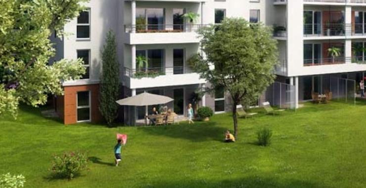 Nombreux espaces verts communs