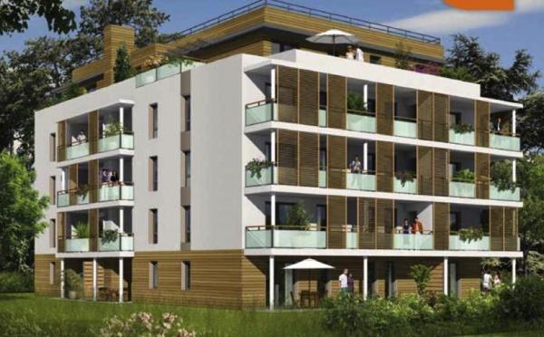 Réalisation immobilière d'appartements neufs labellisés en bbc à Lyon 9ème (réf:039NA)