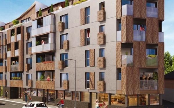 Commune de Rennes, appartements neufs implantés boulevard de Metz (1006OB)