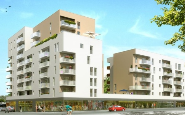 Commune de Nantes, nouvel ensemble résidentiel situé quartier Saint Jacques (1018CI)